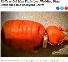 【海外発!Breaking News】畑仕事中に抜け落ちた結婚指輪 3年後、オモシロイ姿で発見される(独)