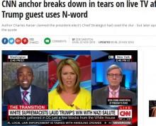 【海外発!Breaking News】CNN美人アンカー泣きながら「やめて!」 コメンテーターが黒人蔑称を連呼