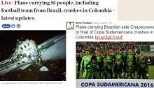 【海外発!Breaking News】燃料切れが原因か ブラジルのサッカーチームを乗せた飛行機が墜落