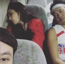 【エンタがビタミン♪】平野ノラがロケバスで熟睡 美しい横顔に「女優感出てる」の声