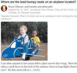 【海外発!Breaking News】「乱気流の時に安全なのはあの座席!」 現役パイロットが断言
