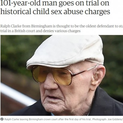 【海外発!Breaking News】30年以上前に小児性犯罪を繰り返した男、101歳にしてついに裁かれる(英)