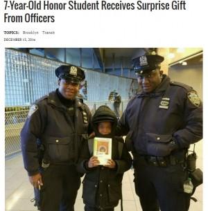 【海外発!Breaking News】NY市警、親切のバトン続く 向学心あふれる黒人小学生にタブレット端末を!