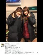 【エンタがビタミン♪】梅田彩佳が紺野あさ美アナとツーショット 恥ずかしくて「推し」と明かせず