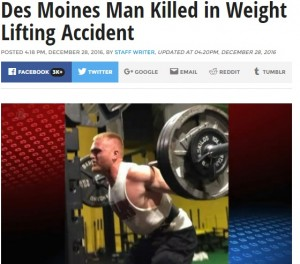 【海外発!Breaking News】ベンチプレスで143kgのバーベルが首に落下、大学生が死亡(米)