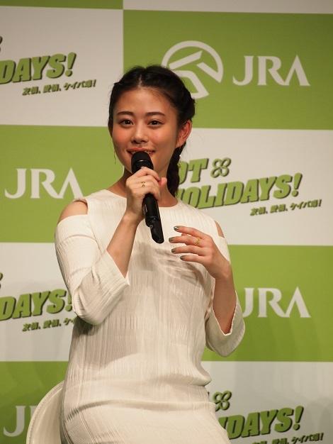 『2017年JRA新CM発表会』に出席した高畑充希