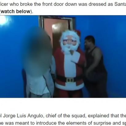 【海外発!Breaking News】麻薬密売アジトに「メリークリスマス!」 取締官サンタに扮して4名逮捕(ペルー)