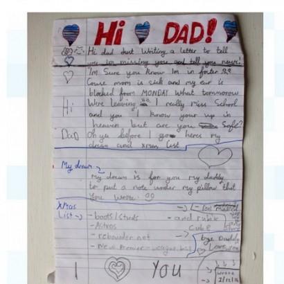 【海外発!Breaking News】「天国のパパへ」 風船にくくりつけられたクリスマスメッセージが切ない(英)