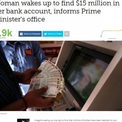 【海外発!Breaking News】突然口座に17億円が振り込まれた貧しい女性 その後の対応が素晴らしすぎる(印)