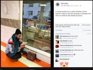 【海外発!Breaking News】がんと闘う教え子のため毎日病院を訪れ授業をする教師(イラン)