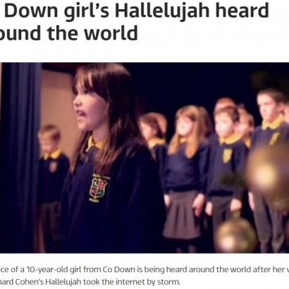【海外発!Breaking News】自閉症とADHDを持つ少女が歌う『ハレルヤ』が素晴らしいと世界中が大絶賛(アイルランド)