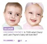 【イタすぎるセレブ達】1Dリアム・ペインとシェリルの赤ちゃんの顔を英メディアが大胆予想 「面白いけど全然似ていない」