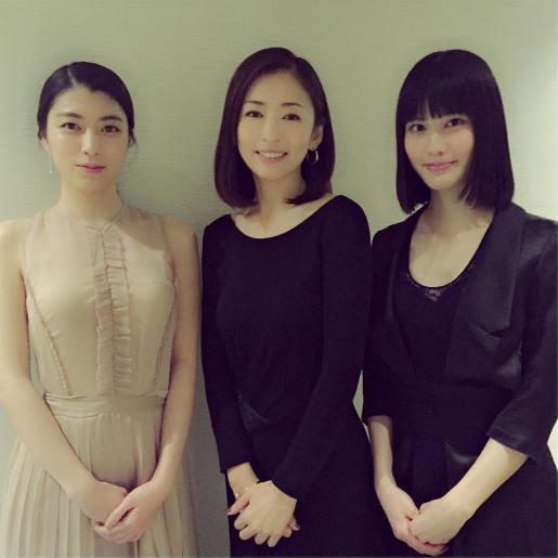 映画『古都』で共演、成海璃子、松雪泰子、橋本愛(出典:https://www.instagram.com/yasukomatsuyuki_official)