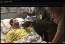 【海外発!Breaking News】脳卒中で天に召される男性 愛犬と最期のお別れ 病院異例の計らいで(米)