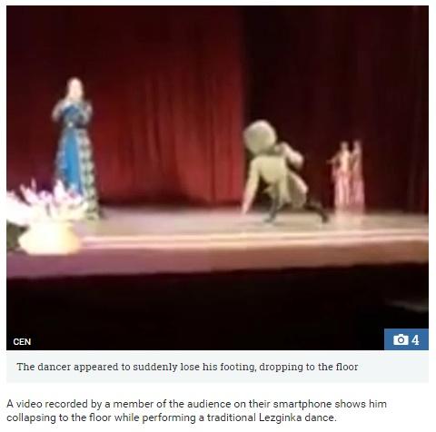 ダンサー、心臓発作によりステージで死亡(出典:www.thesun.co.uk)