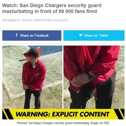 """【海外発!Breaking News】NFLゲーム中に""""警備員""""がチアリーダーを見ながら自慰行為 911番通報される"""