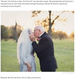 【海外発!Breaking News】結婚して70年 老夫婦が初めての2ショットでお祝い(米)