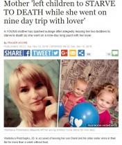 【海外発!Breaking News】わが子をおいて恋人と9日間旅行の母 2歳児は死亡、3歳児は極度の衰弱(ウクライナ)