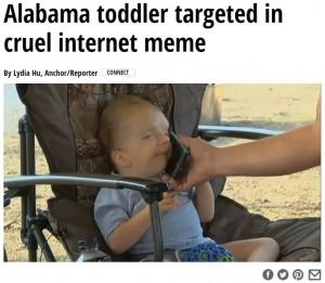 【海外発!Breaking News】重度な疾患・障がいを持つ3歳児の写真がミームに 心無いネット中傷と闘う母親(米)