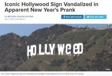 【海外発!Breaking News】ハリウッドの「HOLLY WOOD」サインが「HOLLY WeeD(大麻)」に 嗜好用大麻の愛好家によるイタズラか