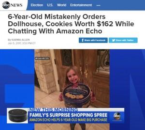 【海外発!Breaking News】「アマゾン・エコー」で6歳女児が1万8千円の大人買い!(米)