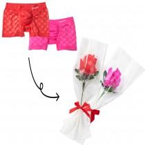 """今年のバレンタインデーはパンツを贈る!? 一輪の""""花""""が""""ボクサーパンツ""""に変身「パンツフラワー」が面白い"""