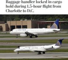 【海外発!Breaking News】ユナイテッド航空機、荷物係を貨物室に閉じ込めたまま1時間半フライト(米)