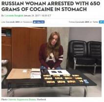 【海外発!Breaking News】胃袋からコカイン57袋 タイの空港で運び屋の女が逮捕される
