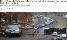【海外発!Breaking News】ハリケーン並みの暴風 米コロラド州で大きな被害 トレーラーも横転<動画あり>