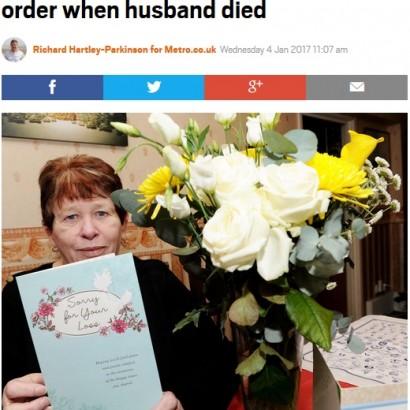 【海外発!Breaking News】突然夫を亡くし、注文を半分にした女性へのデリバリースタッフの対応が温かい(英)