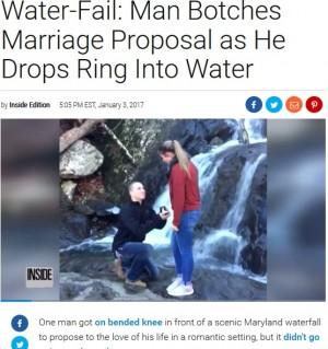 【海外発!Breaking News】滝の側でプロポーズ カップルを襲った悲劇 「彼の顔は凍り付いた」(米)