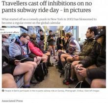 【海外発!Breaking News】毎年恒例の「ノーパンツ・デー」 今年も世界各地の地下鉄で開催