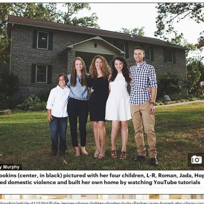 【海外発!Breaking News】4人の子供を持つシングルマザー、YouTubeのチュートリアル動画を見て家を建てる(米)