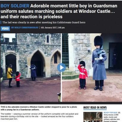 【海外発!Breaking News】王室近衛兵が4歳の男の子に見せた神対応が優しすぎる!(英)