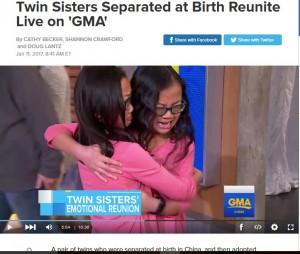 【海外発!Breaking News】生き別れだった10歳の双子が生放送で感動的な再会 泣きじゃくる姿にゲストも涙(米)