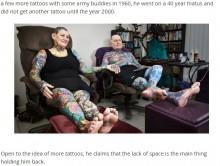 【海外発!Breaking News】体に90%以上のタトゥー 75歳と67歳のギネス認定高齢者カップル(米)
