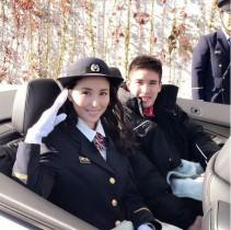【エンタがビタミン♪】橋本マナミ、消防制服姿でベイカー茉秋選手と同乗「イケメンでした」
