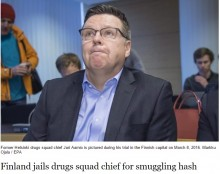 【海外発!Breaking News】麻薬取締官トップ、密輸に加担しては賄賂を受け取り刑務所へ(フィンランド)