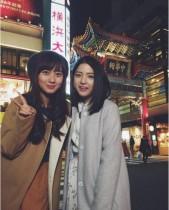 【エンタがビタミン♪】川島海荷&段文凝 中華街での2ショットに「無敵美少女コンビ」の声