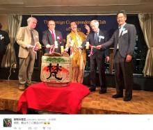 """【エンタがビタミン♪】ピコ太郎""""世界的人気""""は健在! 日本外国特派員協会の新年会で鏡開き"""