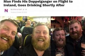 【海外発!Breaking News】本当にあった!「ドッペルゲンガー」体験 機内は隣同士でホテルも同じ 瓜二つの男性2人(英)