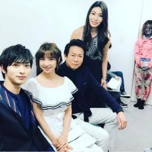 横浜流星、篠田麻里子、東幹久、Raychell(出典:https://www.instagram.com/shinodamariko3)