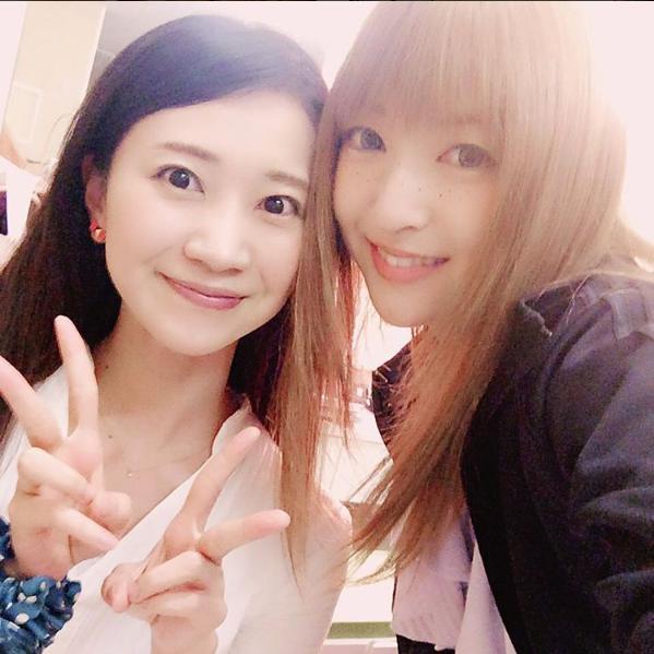 夢咲ねねと神田沙也加:2016年6月18日投稿(出典:https://www.instagram.com/akane_nana)