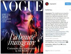 【海外発!Breaking News】『ヴォーグ』の表紙に美しすぎるトランスジェンダーモデルが登場(仏)