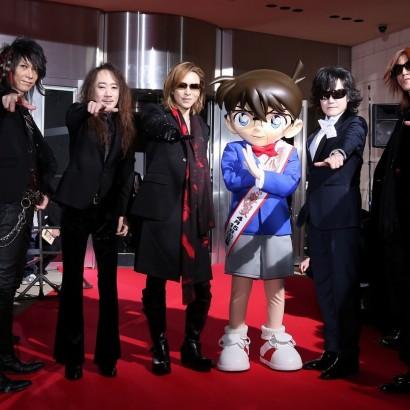 【エンタがビタミン♪】X JAPANが「真実はいつも一つ」の決めポーズ コナン君とレアショット