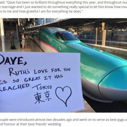 【海外発!Breaking News】「大好きな夫へ」 世界中からバレンタインメッセージを収集した妻(英)