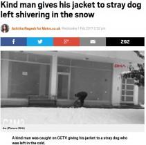 【海外発!Breaking News】雪降る中迷わずコートを脱ぎ…防犯カメラが捉えた男性の行動に感動の嵐(トルコ)