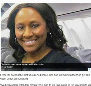 【海外発!Breaking News】客室乗務員が機内で人身売買途中の少女を救う(米)
