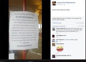 【海外発!Breaking News】「子供に会えて嬉しくないの!?」保育園、お迎え時スマホに夢中な親に怒りのメッセージ(米)