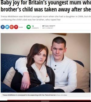 【海外発!Breaking News】実兄にレイプされ12歳で出産 スコットランド女性、苦難乗り越え第2子を妊娠中